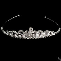 leafs Crystals tiara , princess tiara crown , crystal tiara hand made for order inlaid with leafs SWAROVSKI Crystals and rhinestones,