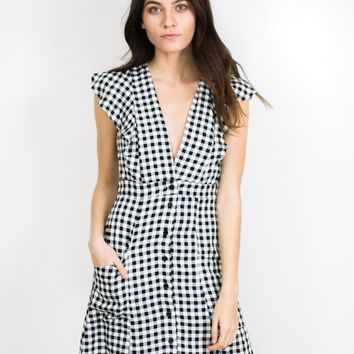 Day Trip Gingham Dress