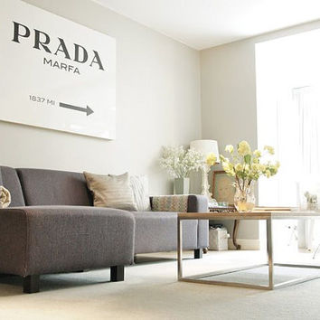"Extra Large Prada Marfa Poster PRINTABLE  27""x40"" / 70cm x 100cm - Fashion art, Fashion poster, Dorm room art, Gossip Girl"