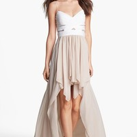 Hailey Logan Cutout High/Low Gown (Juniors) (Online Only) | Nordstrom