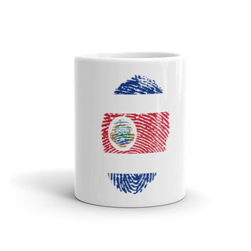 Costa Rican Fingerprint Flag Mug - 11oz
