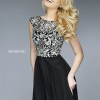 Sherri Hill 32320 Jeweled Illusion Cocktail Dress