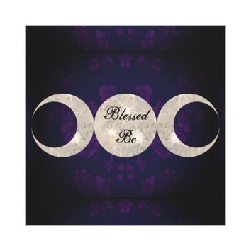 Witch Prim Triple Moon Goddess Canvas Print