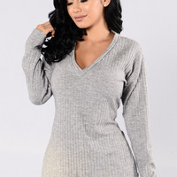 Alfred Sweater - Heather Grey