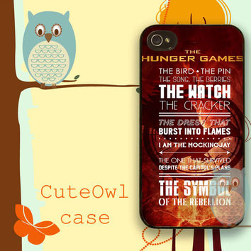 Hunger Game Quote Catching Fire iPhone cases 4/4S Case iPhone 5/5S/5C Case Samsung Galaxy S3/S4 Case