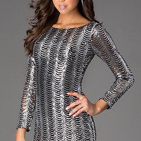Short Sequin Long Sleeve Dress