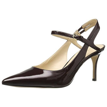 Nine West Womens Millee Patent Leather Pointed Toe Dress Pumps