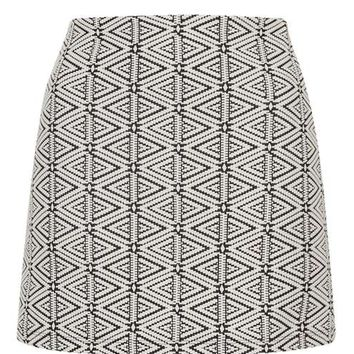 Triangle Jacquard A-Line Skirt