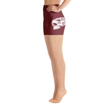 Maroon WOD or Die Skull Shorts
