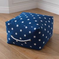 KidKraft Square Pouf - Navy with White Stars - 18698