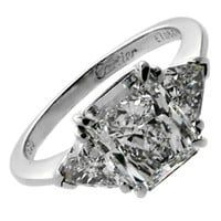 Cartier Spectacular Diamond Platinum Engagement Ring