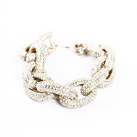J. Crew Classic Pavé Link Bracelet J. Crew  one size by Threadflip Editors' Picks