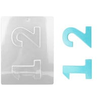Number 1 2 Chocolate Mold