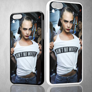 Aint No Wifey Cara Delevingne X0087 iPhone 4S 5S 5C 6 6Plus, iPod 4 5, LG G2 G3, Sony Z2 Case