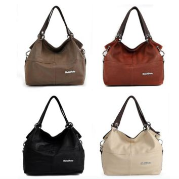Stylish ample soft leather slouch shoulder bag