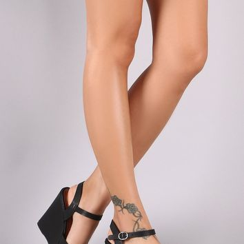 Ankle Strap Chunky Wedge