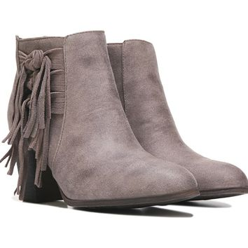FERGALICIOUS Clover Knotted Fringe Bootie Doe