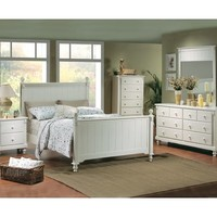 Homelegance Pottery 5 Piece Panel Bedroom Set in White