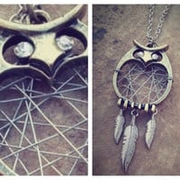 Owl Dream Catcher Necklace