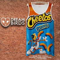 Cheetos Puffs Fullprint Adult Tanktop. Men and Ladies Tanktop