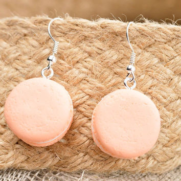 Handmade earrings designer accessory clay jewelry gift idea earrings with charms