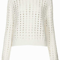 Long Sleeve Knitted Top - Ivory