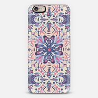 Peach & Blue Folk Art Inspired Painted Pattern iPhone 6 case by Micklyn Le Feuvre | Casetify