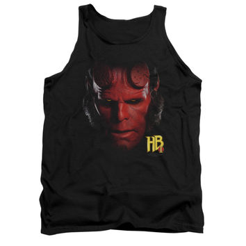 Hellboy Head Adult Tank Top