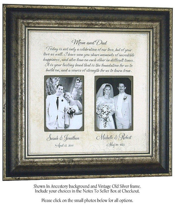 Personalized Wedding Picture Frames For Parents : Personalized Frame Parents of the Bride from PhotoFrameOriginals