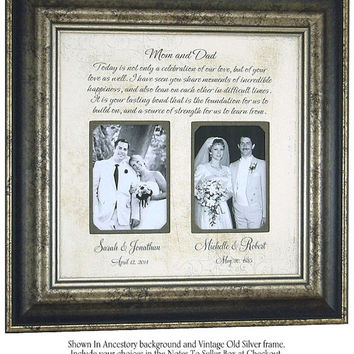 Personalized Frame Parents of the Bride Parents of the Groom Wedding Gift picture frame, CELEBRATION OF LOVE 16x16