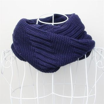 Fashion Striped Knitted Scarves Shawls Stoles Female Winter Warm Cashmere Scarf Collar