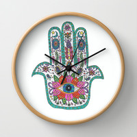 Hamsa Hand Wall Clock by Taylor Halle