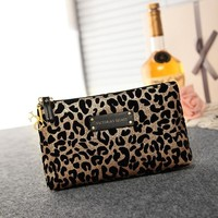 On Sale Hot Sale Hot Deal Beauty Bags Leopard Make-up Bag [12149129427]