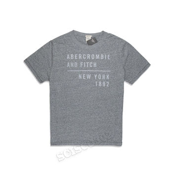 Abercrombie & Fitch T Shirt Gray Graphic Muscle Fit Tee