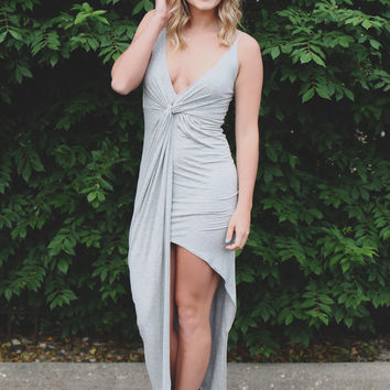 On My Radar Dress - Heather Grey