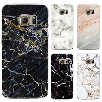 TPU Funda Cases Cover For Samsung Galaxy S6 S6Edge Plus Silicon Phone Case Marble Stone Image Painted Cover Mobile Phone Case
