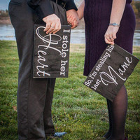 Engagement Photos, Wedding Photos, Save the Date Wood Signs