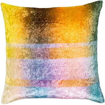 Glitch Pillow Kit - Aqua, Pale Pink, Sky Blue, Butter, Bright Yellow, Violet, Bright Purple, Dark Green, Saffron, Dark Brown - Down - GTC001