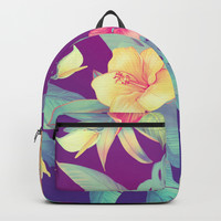 Tropical flowers Backpack by printapix
