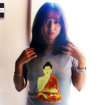 Buddha Meditation spiritual yoga t shirt, Om top - Ohm, Aum, T shirt for Men and Women