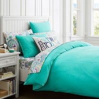Velvet Duvet Cover + Sham, Pool