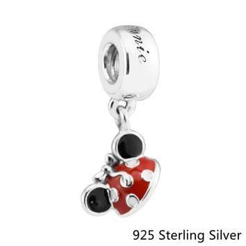 "Beads Fits Pandora Bracelets 925 Sterling Silver Jewelry Mouse ""Minnie Ear Hat"" Origin"