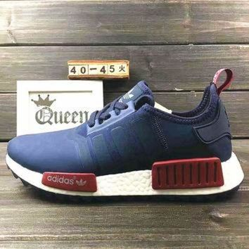 PEAPON Adidas  Women Fashion Trending Running Sports NMD Shoes Navy blue 19a8780ddb94