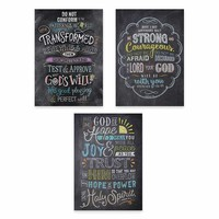 3PK POSTERS BIBLE VERSES IN CHALK