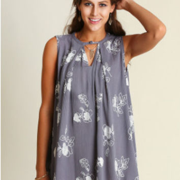 What Comes Around Dress - Cool Grey