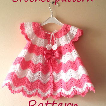 PATTERN Baby Girl Crochet Dress  Pattern Christmas Gift Handmade Crochet PDF Pattern 0-3 Month Baby Craftoriteam Europeanstreetteam