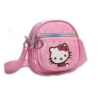 Hello Kitty Girl cartoon cute single shoulder Messenger Bag