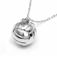 Sports Collection Jewelry Small Water Polo Ball Pendant Rhodium Plated at SwimOutlet.com