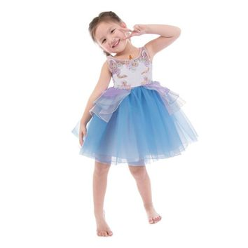 Girls Dress Vestidos Embroidery Beading Girl Princess Dress Unicorn Party Costumes for Kids Clothes Baby Girls Summer Dresses