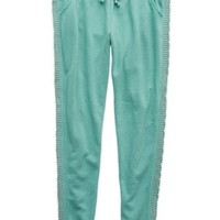 Aerie Women's Cable Knit Skinny Jogger (Green Frost)